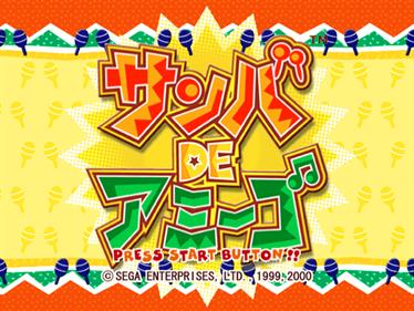 Samba de Amigo - Screenshot - Game Title