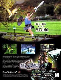 Maximo: Ghosts to Glory - Advertisement Flyer - Front