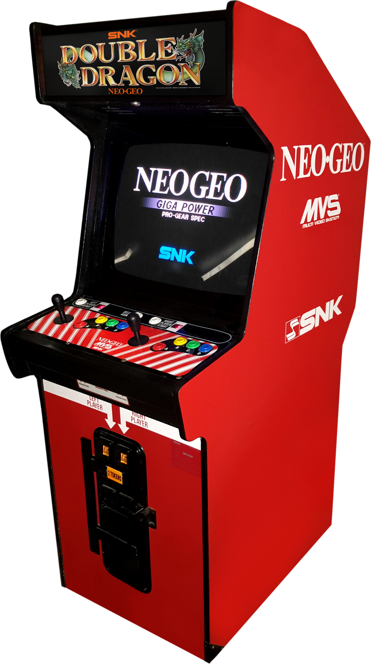 double dragon arcade control panel