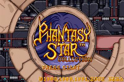 Phantasy Star Collection - Screenshot - Game Title
