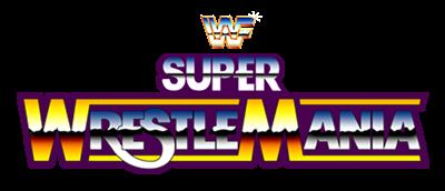 WWF Super WrestleMania - Clear Logo