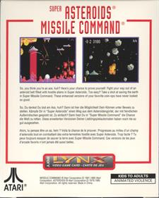 Super Asteroids & Missile Command - Box - Back