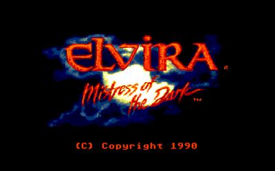 Elvira: Mistress of the Dark - Screenshot - Game Title