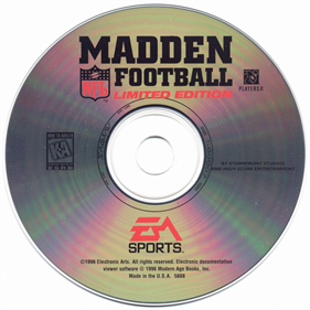 Madden NFL Football: Limited Edition  - Disc