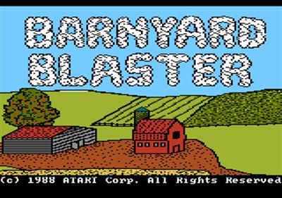 Barnyard Blaster - Screenshot - Game Title