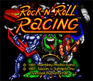 Rock n' Roll Racing - Screenshot - Game Title