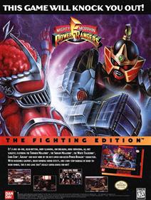 Mighty Morphin Power Rangers: The Fighting Edition - Advertisement Flyer - Front