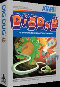 Dig Dug - Box - 3D