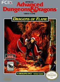 Advanced Dungeons & Dragons: Dragons of Flame - Fanart - Box - Front