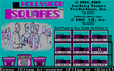 Hollywood Squares - Screenshot - Game Title