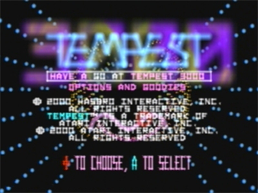 Tempest 3000 - Screenshot - Game Title
