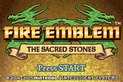 Fire Emblem: The Sacred Stones - Screenshot - Game Title