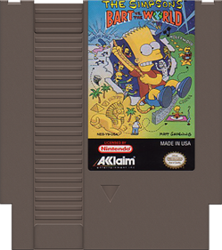 The Simpsons: Bart vs. the World - Cart - Front
