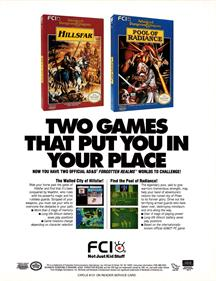 Advanced Dungeons & Dragons: Hillsfar - Advertisement Flyer - Front