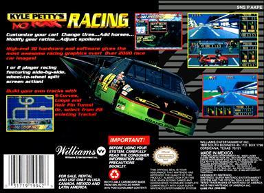 Kyle Petty's No Fear Racing - Box - Back