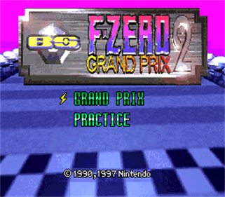 BS F-Zero Grand Prix 2 - Screenshot - Game Title