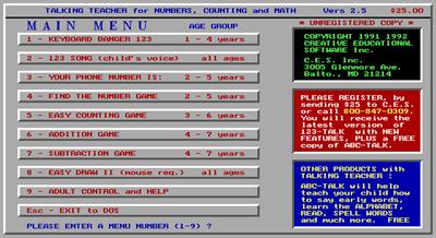 123-Talk - Screenshot - Game Title