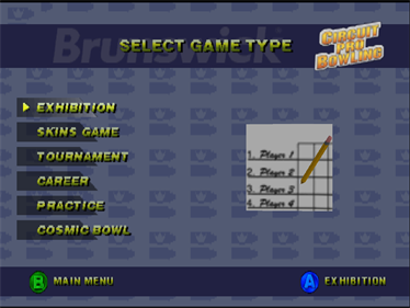 Brunswick Circuit Pro Bowling - Screenshot - Game Select