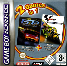 2 Games in 1: GT 3 Advance: Pro Concept Racing + Moto GP: Ultimate Racing Technology