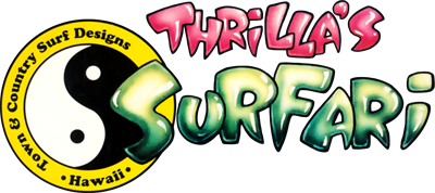 Town & Country Surf Designs II: Thrilla's Surfari - Clear Logo