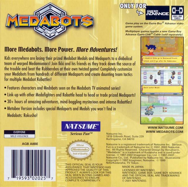 Medabots: Metabee Version Details - LaunchBox Games Database