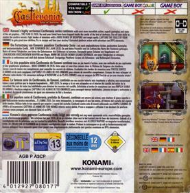 Castlevania: Aria of Sorrow - Box - Back