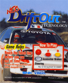 Neo Drift Out: New Technology - Arcade - Controls Information