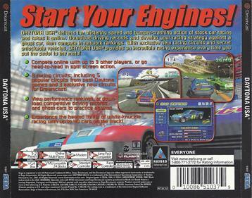 Daytona USA 2001 - Box - Back