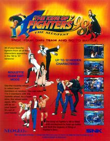 The King of Fighters '98: The Slugfest - Advertisement Flyer - Front