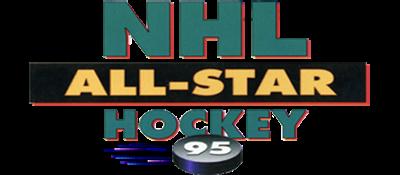 NHL All-Star Hockey '95 - Clear Logo