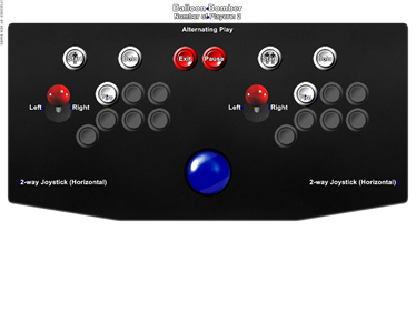 Balloon Bomber - Arcade - Controls Information