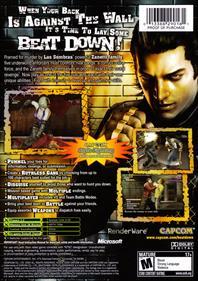 Beat Down: Fists of Vengeance - Box - Back