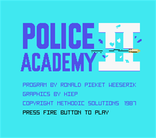 Police Academy II - Screenshot - Game Title
