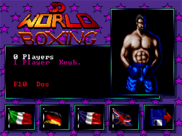 3D World Boxing - Screenshot - Game Select