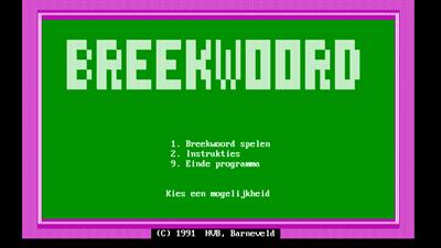 Breekwoord - Screenshot - Game Title