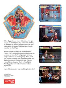 Final Fight - Box - Back