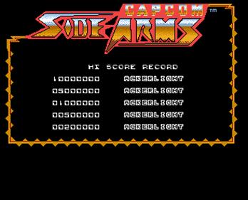 Side Arms - Screenshot - High Scores