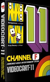 Videocart-11: Backgammon, Acey-Deucey - Box - 3D