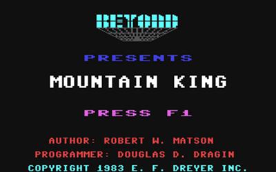 Mountain King - Screenshot - Game Title
