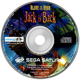 Alone in the Dark: One-Eyed Jack's Revenge - Disc
