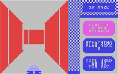 3-D Maze - Screenshot - Gameplay