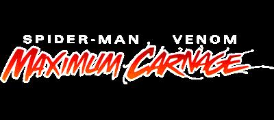 Spider-Man Venom: Maximum Carnage - Clear Logo