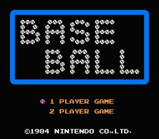 Baseball - Screenshot - Game Title