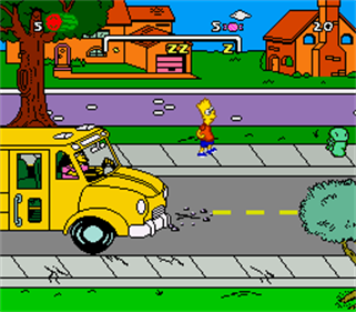 The Simpsons: Bart's Nightmare - Screenshot - Gameplay