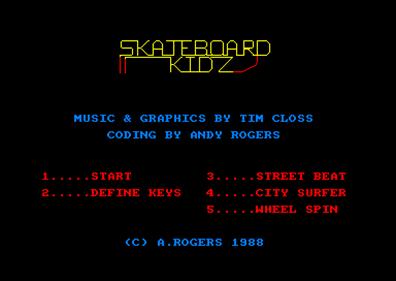 Skateboard Kidz - Screenshot - Game Title