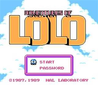 Adventures of Lolo 2 - Screenshot - Game Title