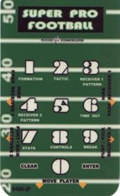 Super Pro Football - Arcade - Controls Information