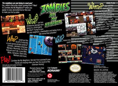 Zombies Ate My Neighbors - Box - Back
