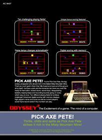 Pick Axe Pete! - Box - Back