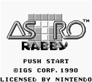 Astro Rabby - Screenshot - Game Title
